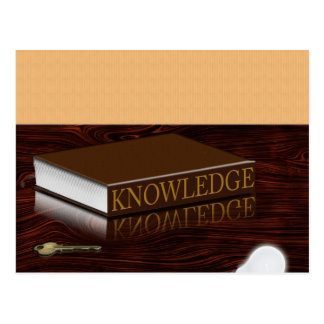 Knowledge is Key Postcard