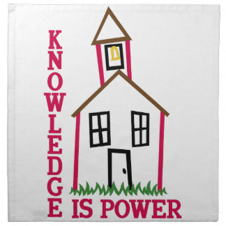 Knowledge Is Power Napkins