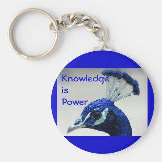 Knowledge is Power keychain