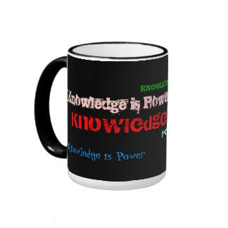 Knowledge is Power Mug* Ringer Mug