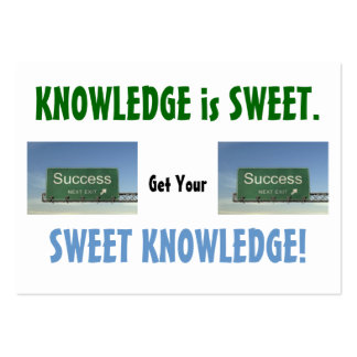 KNOWLEDGE IS SWEET #3 BUSINESS CARD TEMPLATE