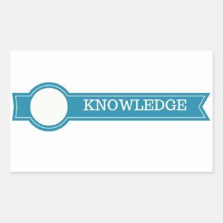 Knowledge Rectangular Sticker