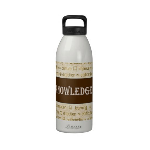 knowledge drinking bottle