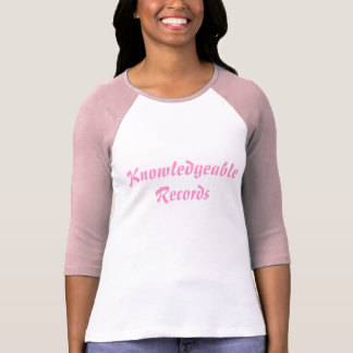 Knowledgeable Records Girls 3/4 Sleeve T-Shirt