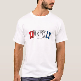 Knoxville in Tennessee state flag colors T-Shirt