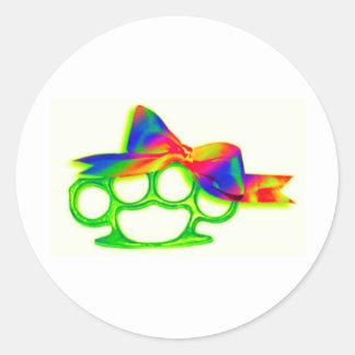 KnuckleBow Round Sticker