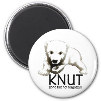 Knut Polar Bear 6 Cm Round Magnet