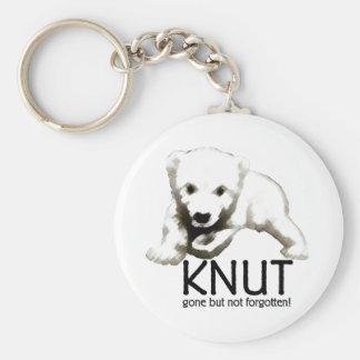 Knut Polar Bear Basic Round Button Key Ring