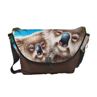 Koala and Baby Rickshaw Messenger Bag