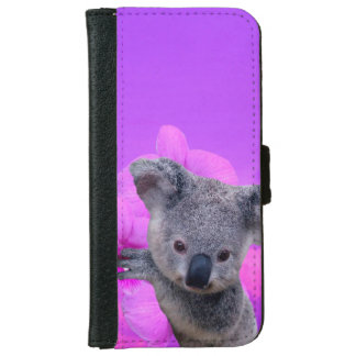 Koala and Orchids iPhone 6 Wallet Case