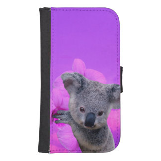 Koala and Orchids Samsung S4 Wallet Case