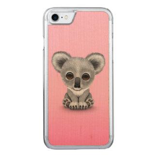 koala baby pinkCute Baby Koala Bear Cub on Pink Carved iPhone 8/7 Case