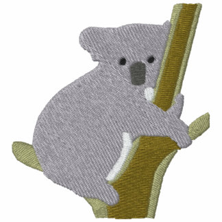 Koala Bear in a Tree ~ Embroidery Pattern Embroidered Polo Shirt