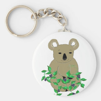 Koala Bear With Vines and Berries Key Ring