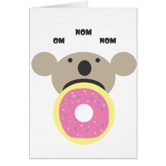Koala Donut Diet Greeting Card