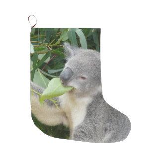 Koala Eating Gum Leaf Large Christmas Stocking