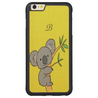 Koala Monogram Carved Maple iPhone 6 Plus Bumper Case