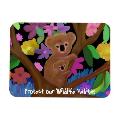 Koala Wildlife Habitat Premium Magnet