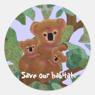 Koalas Save our Habitat Stickers