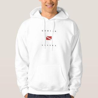 Kodiak Alaska Scuba Dive Flag Hoodie
