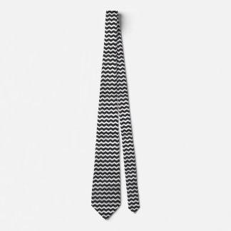 Kohl Black Chevron Pattern Tie