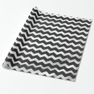 Kohl Black Chevron Pattern Wrapping Paper