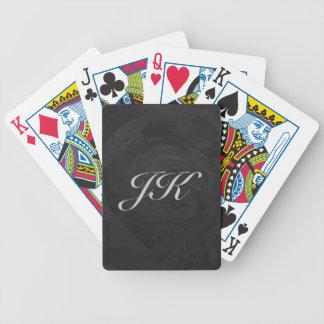 Kohl Black Monogram Personalized Bicycle Poker Cards