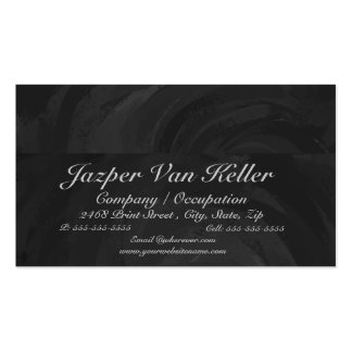 Kohl Black Monogram Personalized Double-Sided Standard Business Cards (Pack Of 100)