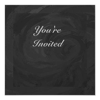 Kohl Black Monogram Personalized 5.25x5.25 Square Paper Invitation Card