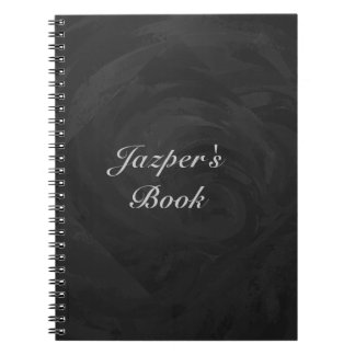 Kohl Black Monogram Personalized Spiral Note Books