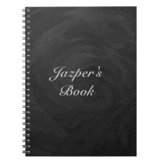 Kohl Black Monogram Personalized Spiral Notebooks