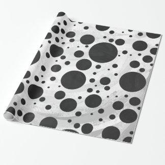 Kohl Black Polka Dot Pattern Wrapping Paper