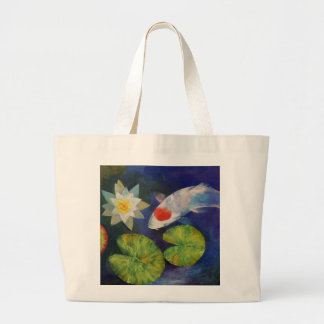 Koi and Water Lily Bag