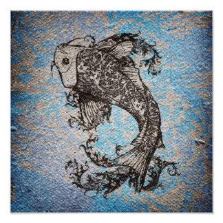 Koi Fish Art Photo
