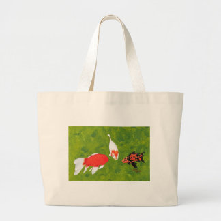 Koi fish meeting painting, on a beach bag
