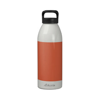 Koi Fish Orange Background. Fashion Color Trends Water Bottles
