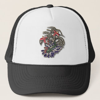 Koi with sparrows trucker hat