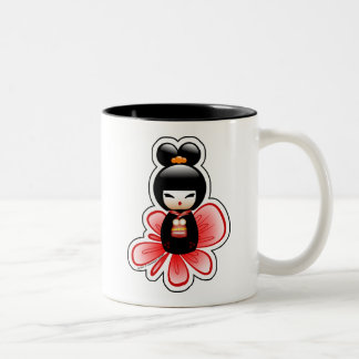 kokeshi-mickey-sfondo-t Two-Tone coffee mug