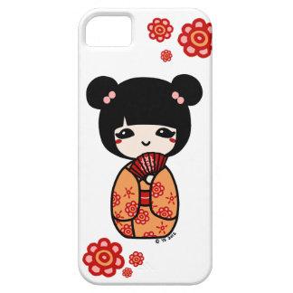Kokeshi Phone Case (Red/Orange) iPhone 5 Cases