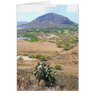 Koko Crater, Oahu, Hawaii Card
