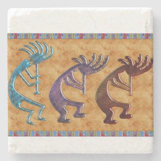 Kokopelli 3D Anasazi Native American Motif Stone Coaster