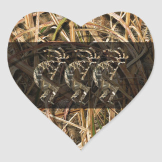 Kokopelli camo long dark heart sticker