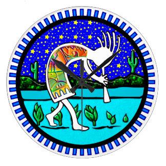 Kokopelli Flute Player Southwestern Clock