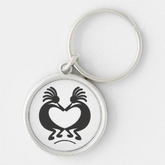 Kokopelli for Valentine's day Key Ring