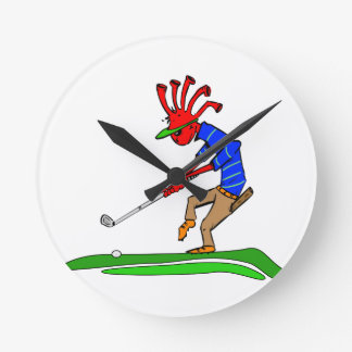 Kokopelli Golfer Round Clock