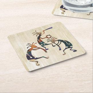 KOKOPELLI musician trio + your ideas Square Paper Coaster