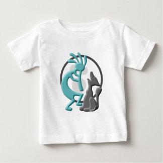 Kokopelli Native American Duet Baby T-Shirt