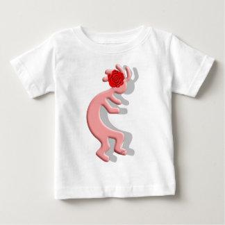 Kokopelli Native American Rose Flower Girl Baby T-Shirt
