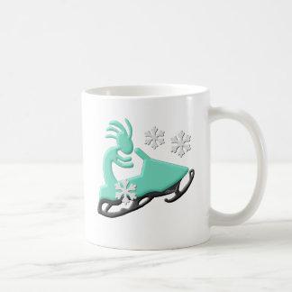 Kokopelli Native American Snowmobile Coffee Mug