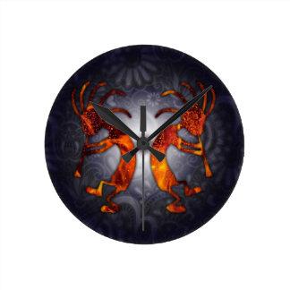 kokopelli round clock